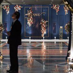 Dream on starry night Design & Decoration: Jeniva Line id: jeniva_bkk TEL : Flower Wall Wedding, Floral Wedding, Wedding Colors, Wedding Backdrop Design, Wedding Stage Decorations, Greece Wedding, Flower Backdrop, Event Decor, Wedding Designs