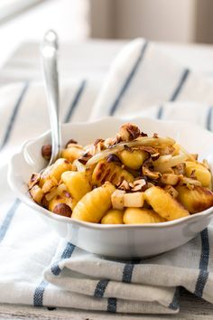 Perfect Fall Gnocchi. Recipe uses store-bought gnocchi. Delicious, and do-able on a work day.