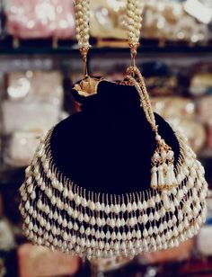 Best 12 Beautiful black tassel pearl potli/wedding potli/bridesmaid potli/fancylace potli/indian potli/potli bag swipe to see colors by MayaCreationsStore on Etsy Vintage Purses, Vintage Bags, Potli Bags, Beaded Bags, Girls Bags, Evening Bags, Purses And Handbags, Fashion Bags, Fashion Accessories