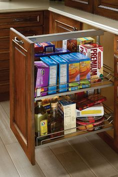 Base Pull-Out Pantry traditional-kitchen