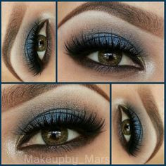 Navy blue smokey  @ makeupby_mars