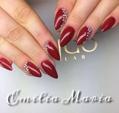Gel Polish Catwalk by Emilia Maria Indigo Young Team #nails #nail #red #swarovski #stone #indigo #the #best #team #ever