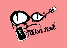 This is logo Nail Salon my best friend. Drawing my work on photoshop Cs6. I make for give my best friend