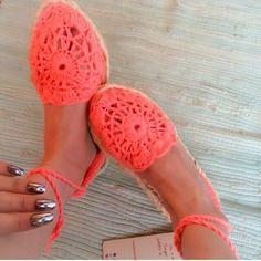 alpargatas tejidas en crochet Pedidos al whatsapp 3214543862