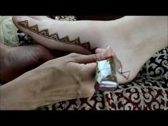 Moroccan Inspired Henna Foot Border Design by Marvelous Mehndi - YouTube