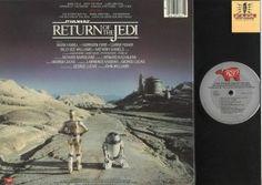 "Back Album Cover Star Wars ""Return of the Jedi"" RSO Records 422-811767-1 #StarWars #HanSolo #LukeSkywalker #DarthVader #C3PO #R2D2"