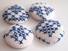 Cross Stitch Buttons Home Decor by lovelui