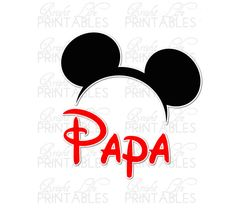 Disney+Iron+On+Transfer+Papa+Of+The+by+BrightLifePrintables,+$4.00