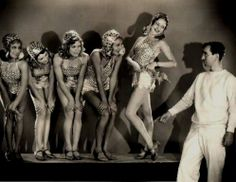 Director Busby Berkley with chorus girls from Gold Diggers 1933