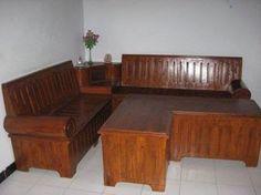 Jati Furniture Minimalis: Meja dan Kursi Sudut Minimalis
