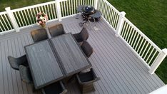 Our striking Reliaboard Grey boards have a flat wood grain, giving them a very authentic appearance. Timbertech Decking, Composite Decking, Outdoor Furniture Sets, Outdoor Decor, Wood Grain, Dining Area, Contemporary Design, Traditional, Grey