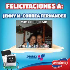 Felicitaciones a: Jenny M. Correa Fernandez Ganadora de un G-Pad 29/4/16