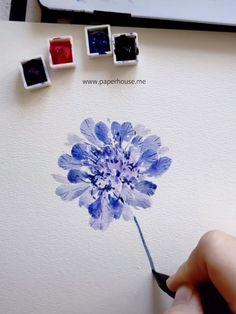 Purple Flowers Watercolor Paintings Whenever you want to paint flowers, try playing with our Paul Rubens Glitter Watercolor set Watercolor Flowers Tutorial, Easy Watercolor, Watercolour Tutorials, Flower Tutorial, Watercolour Painting, Painting & Drawing, Watercolors, Flower Watercolor, Watercolor Trees
