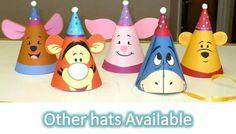 Gorritos fiesteros para un cumpleaños temático de Winnie the Pooh