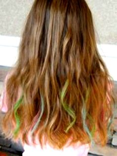 Hair Chalk to make colors...
