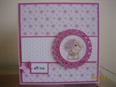 Time-to-Share: FIZZY MOON ..... A SIMPLE CARD TODAY Diy Cards, Handmade Cards, Fizzy Moon, Moon Bear, Tatty Teddy, Card Designs, Cardmaking, Card Ideas, Bears