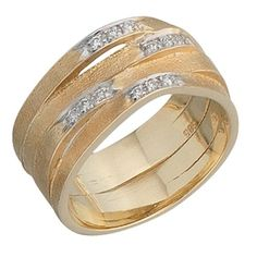 Damen-Ring mattiert 14 Karat (585) Gelbgold 12 Diamant 0.12 ct. 58 (18.5) Dreambase http://www.amazon.de/dp/B00AEEKAPW/ref=cm_sw_r_pi_dp_NCv7tb0F7DJDS