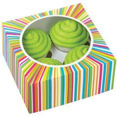 Wilton Cupcake Boxes4 Cavity Colorwheel 3/Pkg