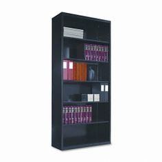 Tennsco B78BK 34-1/2 by 13-1/2 by 78-Inch Metal Bookcase with 6 Shelves, Black by Tennsco. $282.13. Commercial grade. Straight lines permit flush alignment side-by-side and back-to-back. 0. 34-1/2 by 13-1/2-Inch Shelves adjust in 2-Inch increments Straight lines permit flush alignment side-by-side and back-to-back Commercial grade Powder coated finish 34-1/2 by 12-5/8-Inch Shelves adjust in-1/2-Inch increments Width: 34-1/2-Inch  Depth: 13-1/2-Inch  Height: 78-Inch  Color(s): Black