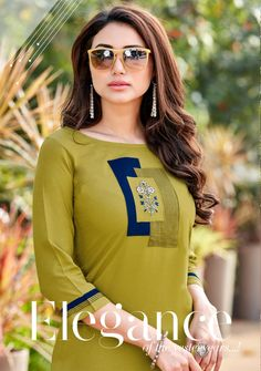 Sleeves Designs For Dresses, Dress Neck Designs, Blouse Designs, New Kurti Designs, Kurta Designs Women, Fancy Kurti, Kurti Embroidery Design, Pakistani Dresses Casual, Kurti Patterns