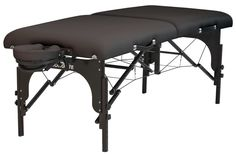 "Stronglite Premier Table Package, Black, 30"" x 73"". Perfect for all modalities from deep tissue to ashiatsu - 1000 lb. Working weight. Box beam reinforcement and dovetail construction for unmatched strength. Power lock support System and Double knobs. Reiki endplates and Dual Face rest outlets allow for versatility. Three inch deluxe foam cushioning System."