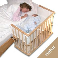 co sleeper baby newborn. this is such a great idea. I wish i would have had one of these when mine was a baby. Much easier than bassinet Baby Bassinet, Baby Cribs, Bedside Bassinet, Baby Pictures, Baby Photos, Baby Co Sleeper, Baby Time, Baby Furniture, Baby Sleep