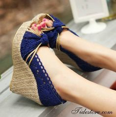 Beautiful crocheted wedges.