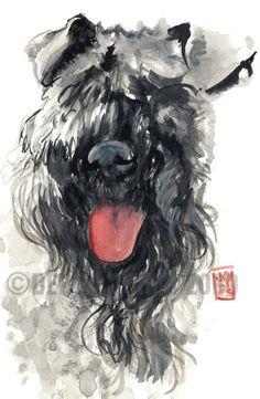 Dog-a-day Art Blog: Kerry Blue
