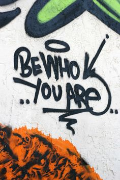 """Be Who You Are"" #Wynwood #miami #streetart #urbanart #grindsk8club"