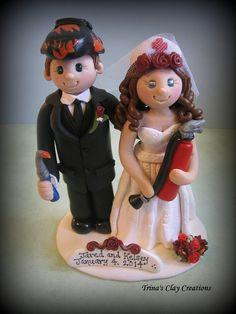 Wedding Cake Topper Custom Cake Topper by trinasclaycreations, $185.00