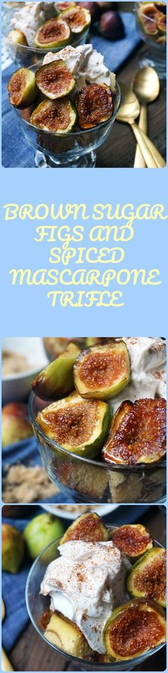 Figs are caramelized in brown sugar and topped with a cinnamon and goat cheese spiked mascarpone. Nestled in vanilla poundcake. This is the perfect quick dessert for company. Using homemade and store made ingredients. Quick Dessert, Best Dessert Recipes, Amazing Recipes, Fun Desserts, New Recipes, A Food, Good Food, Fall Dishes, Dessert Dishes