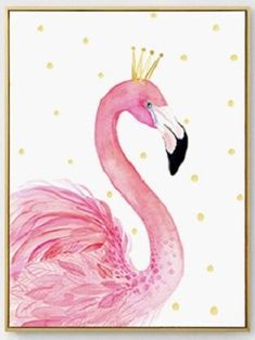 Wall Art - Flamingo Print on Canvas Cloth (A-134)