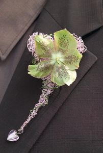 #green boutonniere … Budget wedding ideas for brides, grooms, parents & planners ... https://itunes.apple.com/us/app/the-gold-wedding-planner/id498112599?ls=1=8 ♥ The Gold Wedding Planner iPhone App ♥