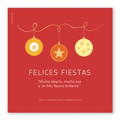 Tres Esferas Rojo Box - Tarjetas para Navidad y Fin de Año Merry Christmas Everyone, Christmas And New Year, Christmas Holidays, Christmas Labels, Christmas Clipart, Christmas Cards, Christmas Decorations, Note To Self Quotes, Fabric Paper