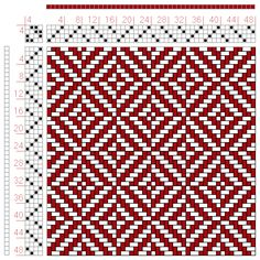 Hand Weaving Draft: Figure 413, A Manual of Weave Construction, Ivo Kastanek, 4S, 4T - Handweaving.net Hand Weaving and Draft Archive placemat