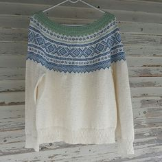 Hege's Marius genser Fair Isles, Pulls, Crochet Top, Pullover, Knitting, Pattern, Sweaters, How To Wear, Inspiration