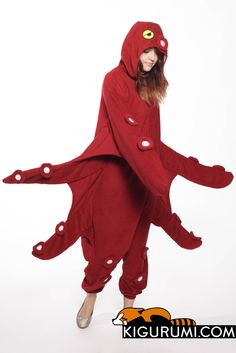 Octopus Kigurumi Onesie Animal Adult Costume Pajamas