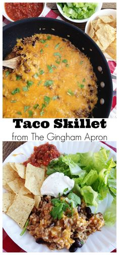 Make this for dinner tonight! Fast, easy, fresh: Taco Skillet.