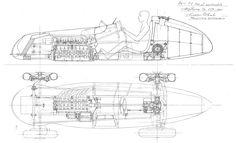 Alfa Romeo, Slot Cars, Race Cars, Technical Drawings, Blue Prints, Car Drawings, Cutaway, Formula 1, Custom Cars
