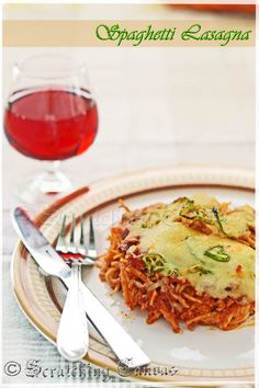 Recipe   Spaghetti Lasagna or Baked Spaghetti with Bolognese and Little Cheese   Scratching Canvas