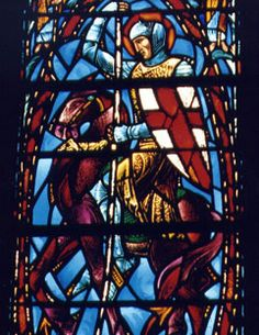 St. George and the dragon, Heinz Chapel, University of Pittsburgh, Charles J. Connick