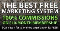 Get the best FREE marketing system in the world.  Earn $10 a month for every free user you refer that becomes a member.