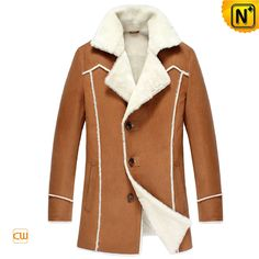 Measure to Made: Winter Shearling Sheepskin Lined Leather Coat CW852177  - www.cwmalls.com