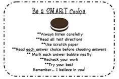 FREEBIE Smart Cookie testing note   Cute song links are in blog post for testing motivation