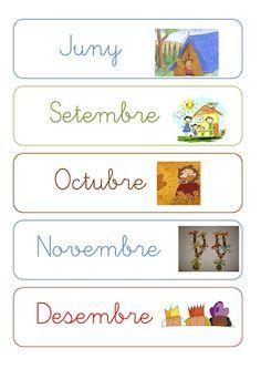 Els mesos de l'any (lligada) Kindergarten Classroom Organization, Classroom Decor, Classroom Management, Calendar Time, Circle Time, Reggio Emilia, Ideas Para, Homeschool, App