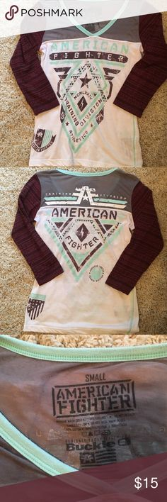 American Fighter Shirt American Fighter 3/4 Sleeve Shirt. Size Small Buckle Tops