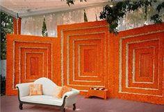decor Diy Diwali Decorations, Wedding Stage Decorations, Festival Decorations, Flower Decorations, Mehendi Decor Ideas, Mehndi Decor, Ganapati Decoration, Desi Wedding Decor, Pooja Room Door Design