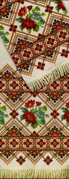 Ukrainian embroidery, рушник, Айстри (мотиви Волинi)1