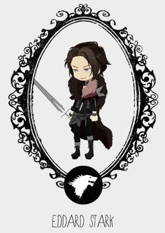 Game of Thrones - Season 3 Ned Stark, Game Of Thrones Fans, Valar Morghulis, Fire And Ice, Winter Is Coming, Season 4, New Day, Chibi, Nerd