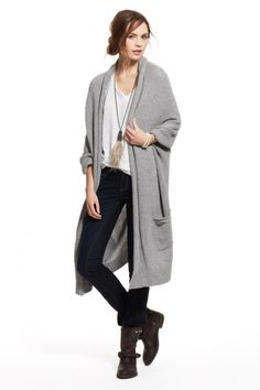 Cashmere Cocoon Pocketed Cardigan